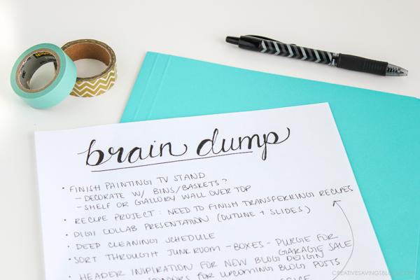 brain-dump-page